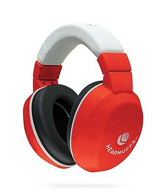 Lucid Audio HearMuffs Kids Hearing Protection Red/White Over-the-ear Sound Ear