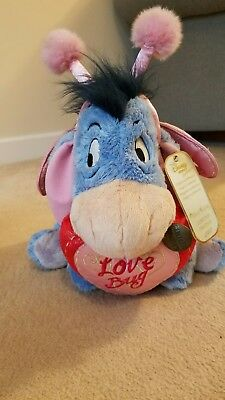 Limited edition disney store exclusive valentines day eeyore 2007 with tags