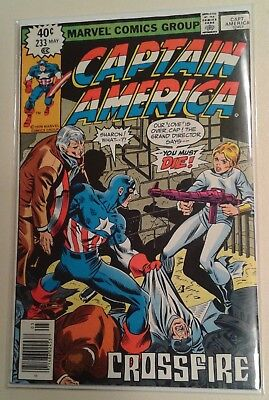 Captain America  #233 Death Of Sharon Carter 1979 Marvel Bronze Age Key Issue