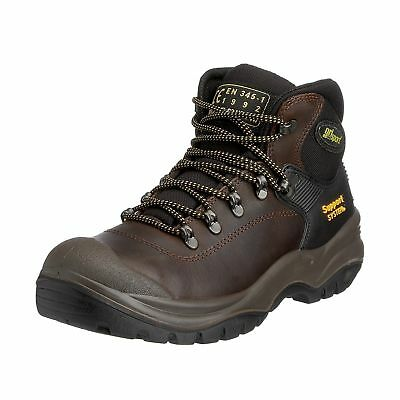 Grisport Men's Contractor S3 Safety Boots Brown 8 UK