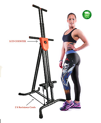 XR Vertical Climber 3.0 Workout Maxi Exercise Cardio Machine + Resistance Straps
