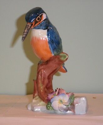 Kingfisher Bird Figurine Raybur English Bone China Hand Painted