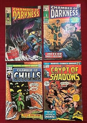 Marvel lot Chamber of Darkness #1, 5,  Chamber of Chills 15, Crypt of Shadows 17