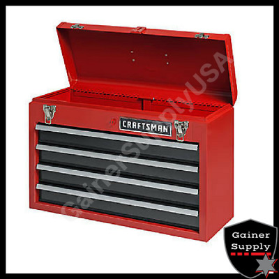 """New 4 Drawer Tool Box Chester Portable Metal Steel Chest 22/"""" 56cm 5 Compartment"""