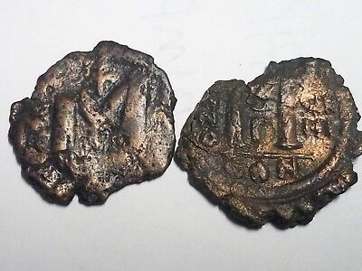 Lot of 2 Barbarous Byzantine coins Justianian I