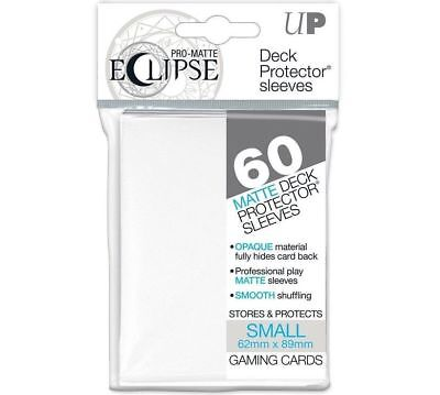 60 Ultra Pro-Matte ECLIPSE WHITE Small Mini Deck Protector Sleeves Yugioh 85268