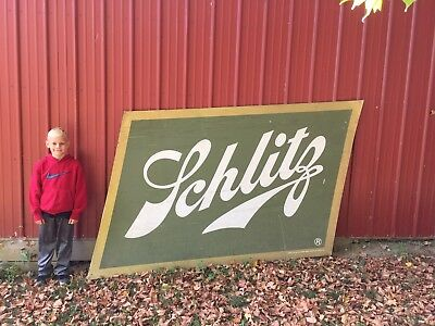 Vintage Original Schlitz beer sign delivery truck billboard large advertising