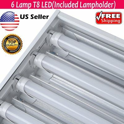 10 X 6 Lamp T8 High Bay Fluorescent Light Fixture Warehouse Shop Light EC