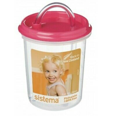 Dinkee Drinker with Straw by Sistema. Colour Choices. Sippy Cup, Training Cup...