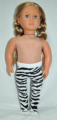 """American Girl Doll Our Generation Journey Girl 18"""" Dolls Clothes Zebra Tights"""