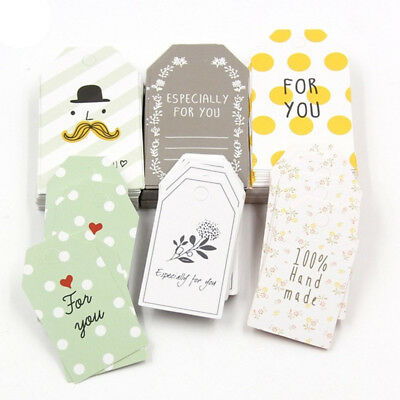 50Pcs Gift Tags Paper Hanging Craft Tags Card Price Greeting Card Party Card Tag