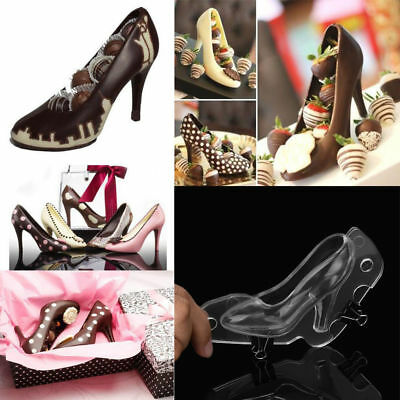 3D High Heel Shoe Chocolate Mould Candy Cake Jelly Mold Wedding Decorating DIY