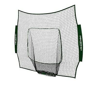 (Green) - PowerNet Team Colour Nets Baseball and Softball 7x7 Bow Style (Net