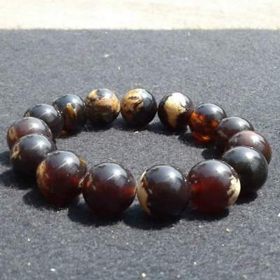15mm 29gr Authentic Natural Sumatra Amber Healing Reiki Bracelet 666539 Rocks, Fossils & Minerals