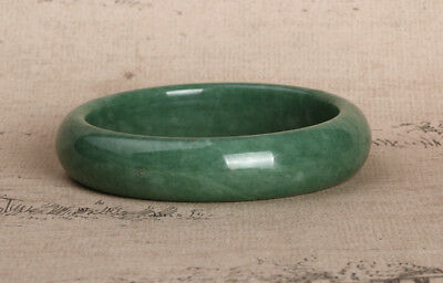 hot Chinese Beautiful Genuine Natural Green Jade Gems Bangle Bracelet ~54-68mm