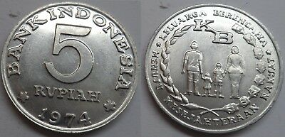"Indonesien 5 Rupiah 1974 ""F.A.O. - Family Planning"""