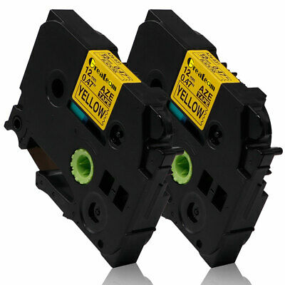 2PK TZe-631 TZ-631 Compatible for Brother P-touch Label Tape Laminated 12mm