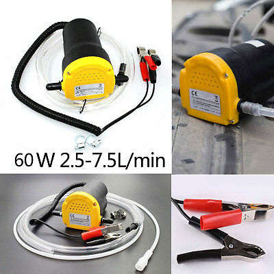 Car/Motorbike Oil Diesel Transfer Portable Siphon Pump 12V 60W Extractor Fluid