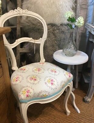 Vintage French newly upholstered chair for bedroom