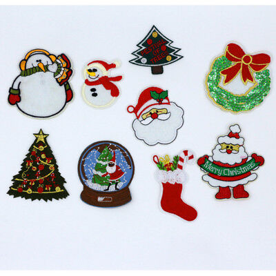 """Christmas Embroidered Iron On Applique Patch Santa Claus 2 1//4/""""H"""