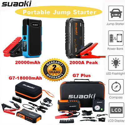18000mAh 20000mAh 12V Portable Car Jump Starter 2 USB Battery Booster Power Bank