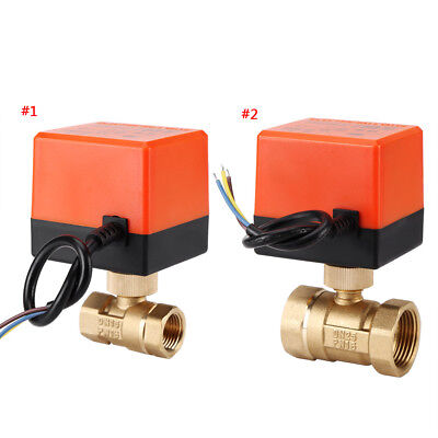 Motorized Ball Valve Brass DN15-25 AC220V 2 Way 3-Wire Electrical Ball Valve im