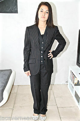 luxurious pantsuit black striped class bcbg DOLCE & GABBANA size 40 new