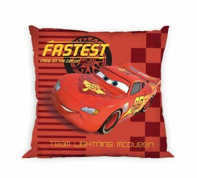 NEW LICENSED DISNEY CARS McQueen Fastest red cushion cover 40x40cm 100% cotton