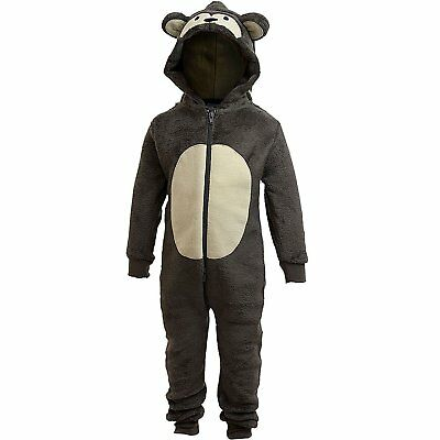 Animal Crazy Boys Supersoft Monkey Bodysuit Onepiece Jumpsuit Playsuit 3/4 Years