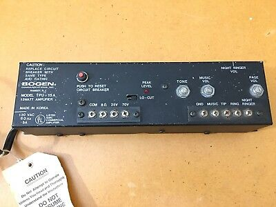 Bogen TPU-15A 15 WATT Background Music and Paging Amplifier with Night Ringer