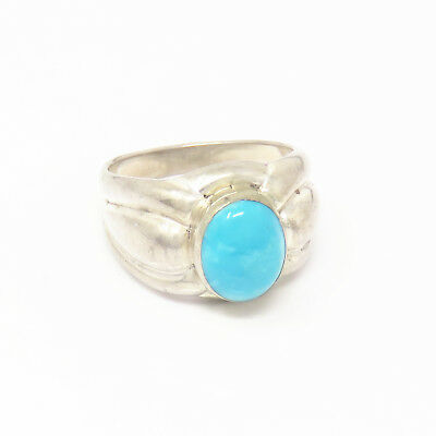 NYJEWEL 925 Sterling Silver Navajo Turquoise Ring