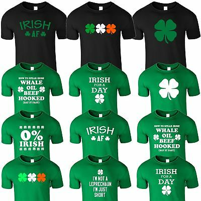 St Patricks Day T-Shirts Mens Irish Paddys Shamrock Ireland Leprechaun TShirt