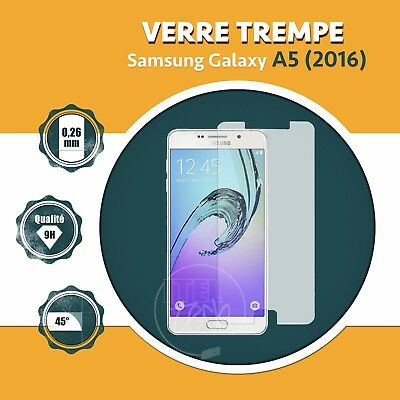 LOT X1 À X2: ViTRE FILM PROTECTION ÉCRAN EN VERRE TREMPÉ SAMSUNG GALAXY A5 2016