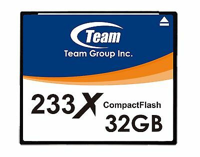 32GB Team 233X CF CompactFlash memory card