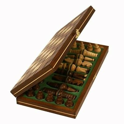 Mini Royal European Wood International Chess Set. Wegiel. Shipping is Free