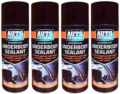 4 x Underbody Sealant Spray Paint Rust Arches Under Body Protection Seal 400ml