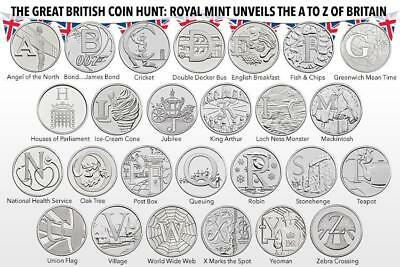 GREAT BRITISH HUNT Uncirculated 10p LETTERS  A to Z PICK CHOOSE YOUR LETTER