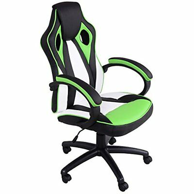 Executive Racing Chair PU Leather High Back Gaming Swivel Computer Desk, Green