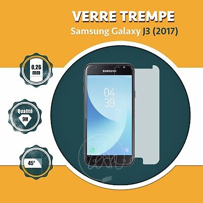 LOT X1 À X10: ViTRE FILM PROTECTION ÉCRAN EN VERRE TREMPÉ SAMSUNG GALAXY J3 2017