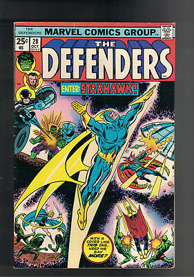 DEFENDERS #28 KEY 1st Appearance STARHAWK + MARVEL PREMIERE #61 STARLORD solo.