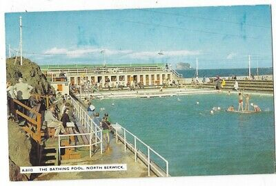 NORTH BERWICK The Bathing Pool, Old Postcard by JB White, Unused