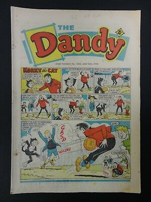 The Dandy Comic No. 1383, May 21-27 1968, 50th Birthday Present / Gift, GD Copy