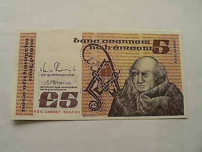 Banknote Irland 5 Pounds 1993