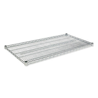 Alera Industrial Wire Shelving Extra Wire Shelves, 48w x 24d, Silver, 2 Shelves
