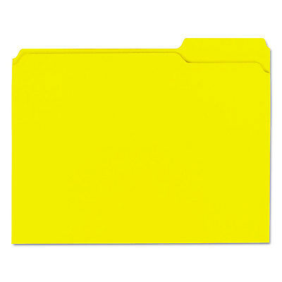 UNIVERSAL Colored File Folders 1/3 Cut Assorted Two-Ply Top Tab Letter Yellow