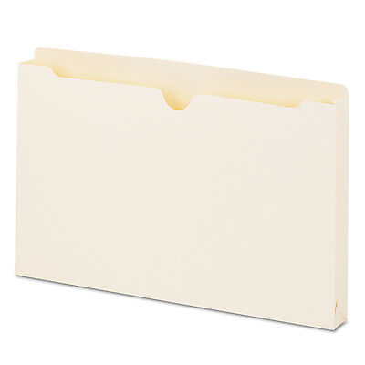 UNIVERSAL Economical File Jackets with 1 1/2 Expansion Legal 11 Point Manila 50