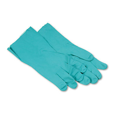 Boardwalk Nitrile Flock-Lined Gloves X-Large Green Dozen 183XL