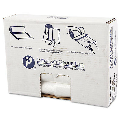 Inteplast Group High-Density Can Liner 30 x 36 30gal 13mic Clear 25/Roll 20