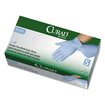 Curad Nitrile Exam Glove Powder-Free Small 150/Box CUR9314
