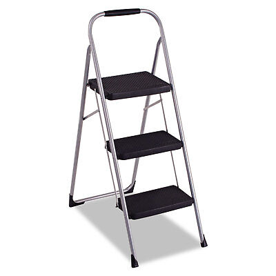Cosco 3-Step Big Step Folding Stool 200lb 17 3/4w x 28d x 45 5/8h Platinum